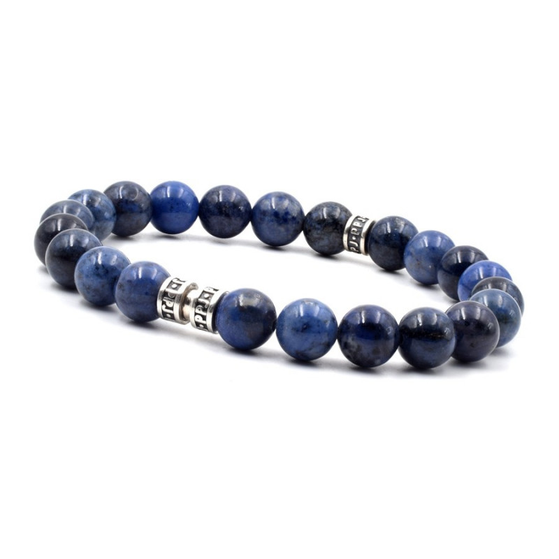 Bracelet homme deep blue 8 mm