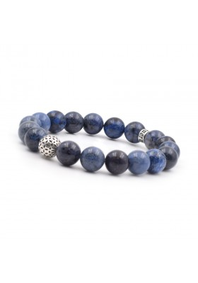 Bracelet homme PPJ deep blue 10 mm