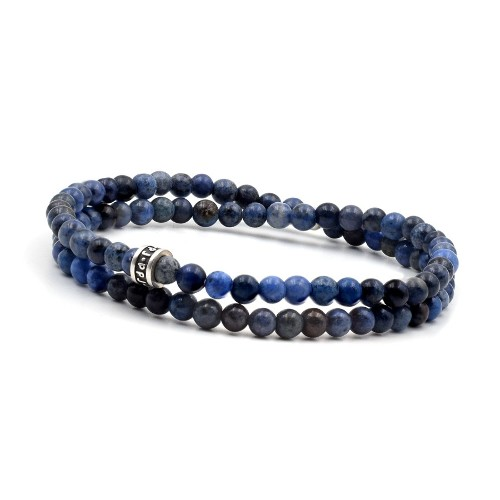 Bracelet homme PPJ 2 tours deep blue 4 mm