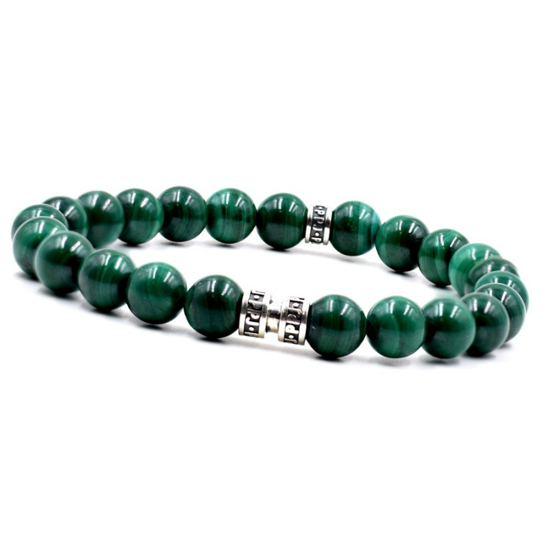 Bracelet homme malachite 8mm